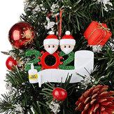 2020 Merry Christmas Ağacı Asma Süsler Aile DIY Kişiselleştirilmiş Dekor Hediyeleri