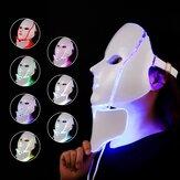 LED Colorful Acné Eliminación Cuello Instrumento de belleza con luz de color Ilumina y rejuvenece el rostro Mascara