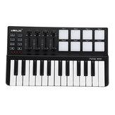 WORLDE Panda USB 25-Key MIDI Keyboard Controller w/Drum Pad Portable Trigger
