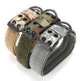 L Tactical Military Adjustable Dog Training Collar Nylon Leash w / Metal Buckle
