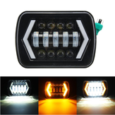 7x6 5X7 55W H4 LED Phares DRL 1PCS pour pick-up Jeep / Cherokee XJ / Wrangler YJ / Toyota
