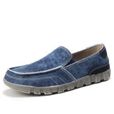 Men Canvas Breathable Soft Sohle Bequeme Slip On Freizeitschuhe
