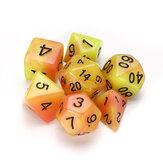 7 шт. Светящиеся многогранные кубики Набор кубиков с кубиками для RPG