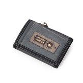 الرجال عارضة قماش الخفيف المحفظة قصيرة بطاقة حامل