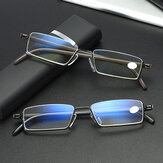 Unisex Anti-blue Light Metal Half-frame Hanging HD Light Reading Glasses Presbyopic Glasses With Box