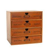 Cassetto in legno Scatola Armadio portaoggetti da tavolo retrò Finitura articoli vari Scatola Cosmetico per gioielli Organizzatore per ufficio casa