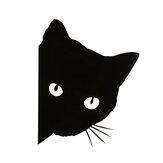 12x14.5cm chat visage peering autocollants de voiture décalcomanies chat autocollant décoratif