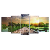 5 Pcs Wall Decorative Painting Landscape Canvas Art Pictures Frameless Wall Hanging Decorations for Home Office