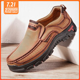Hommes en cuir véritable Vintage Casual Business Office Soft Mocassins de marche