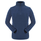 Mens Casual Stand Collar Polar Fleece Sweatshirt
