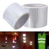 5 см х 3 м серебристо-белый светоотражающая предупреждение предупреждение видимость ленты стикер фильм