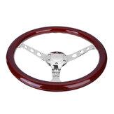 Roda de direção universal de 15 polegadas. Roda de direção em mogno retro modificada em cor adequada para Volkswagen Transporter T3 T25