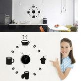 Honana DX-X3 Creative 3D acrílico espejo pared pegatina relojes de cuarzo reloj Decoraciónación para el hogar grande