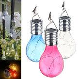 Solarbetriebene warme weiße wasserdichte Garten-feenhafte Beleuchtungs-Birnen-kampierende hängende Lampe im Freien
