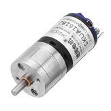 CHIHAI CHR-GM25-BK370 12V 2000rpm 1:10 Ratio DC Motor High Speed Strong Magnetic Reduction Motor