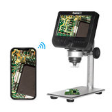 MUSTOOL G610 WIFI 2MP 4.3inch LCD Microscope Support IOS Android System Built-in Rechargeable Battery & 8 Adjustable Leds with Metal Stand
