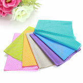KING DO WAY 8PCS Colorful Wave Point Cotton Cloth DIY All-match Cotton Fabric