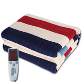 Timing 3 Gears Control Electric Blanket Heated Mat Waterproof Luxury Flannel Comfort