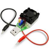 USB DC Resistência eletrônica de carga Bateria Power Bank Capacidade de teste Carregador Voltagem de corrente constante ajustável Envelhecimento Descarga