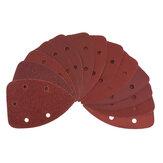 40pcs 60/80/120/240 Hojas de lijado de grano Lijas de lija Almohadillas de disco Trituración triangular herramienta