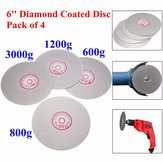 4pcs 6 Inch 600/800/1200/3000 Grit Flat Lap Wheel Lapping Grinding Disc