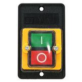 Excellway® 10A 220 / 380V KAO-5 Wodoodporny ON / OFF Przełącznik przyciskowy do wiertarki