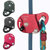XINDA 7075 Aluminum Safety Rope Grabs for Fall Protection Climbing Fall Arrester Mountaineer Tools 100KG Max Bearing