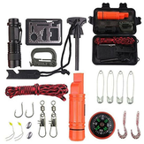 Multifunction Emergency Survival Kit Outdoor SOS Equipment Tool First Aid Fishing Box For Hunting