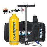 Zestaw do nurkowania DEDEPU 1L Butla z tlenem Zbiornik powietrza z pompą Sprzęt do nurkowania podwodnego