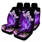 Universal Car Seat Covers Purple Butterfly Front & Rear Seat Covers Protection