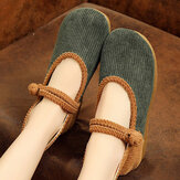 Women Comfy Soft Sloe Edged Wide Fit Mary Jane Flat Loafers