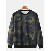 Men Fashion Casual Camouflage Crew Neck Sweatshirt