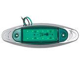 2ピース緑24ボルトLEDサイドマーカーライトFlashストロボ緊急警告ランプボート車トラックトレーラー