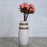 White Creative Modern Ceramic Flower Vase Handmade Flowers Bouquet Vase Home Decor