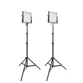 TRAVOR L4500 LED-videolamp 2 set fotografisch licht met statief voor studio YouTube-video-opnamen