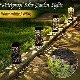 Zonne-energie buiten LED gazon licht waterdichte holle tuin Lamp Yard Path Decor