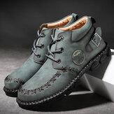 Menico Мужская ручная строчка, нескользящая металлическая пряжка, повседневная кожа Ботинки