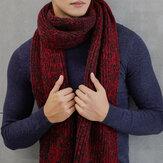 Men Woman Winter Warm Thicken Knitted Gird Scarf Gradient