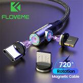 Cable de datos magnético 3 en 1 FLOVEME Type-C Cable micro USB LED Indicador de carga rápida para Mi10 POCO X3 Note 9S Huawei P30 P40 Pro OnePlus 8Pro