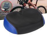 PU Leather Bike Saddle Comfort Wide Breathable Bicycle Seats Sporty Soft Bike Cushion Outdoor Cycling