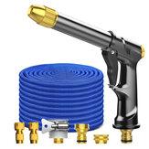 Jet d'eau réglable de jet d'eau réglable de jet d'outil de rondelle de voiture à haute pression avec l'outil de l'eau de nettoyage de Pot de mousse extensible de tuyau d'arrosage