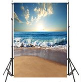 3x5ft 5x7ft Sunny Sea Beach photographie toile de fond Studio Prop fond