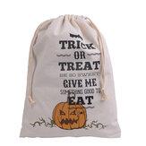 Halloweenowa torba płótna Strona Halloween worki sznurkiem Candy prezenty torba