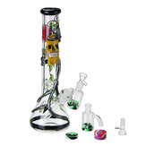 3-in-1 Glass Water Pipe + Glass Joint Pipes + Glass Adapter untuk Merokok