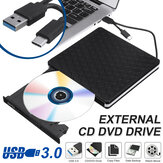 Slim خارجي USB 3.0 DVD RW CD Writer Drive Burner Reader Player للكمبيوتر المحمول *