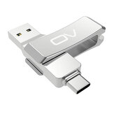 OV V34C 128G Type-C USB Flash Drive Dual Interface USB3.1 Memory Disk 32G 64G 360° Rotation Metal Pendrive U Disk