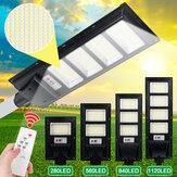 280/560 / 840LED Solar Sokak Işık Zamanlaması + Işık Kontrolü Su Geçirmez Radar Sensör Duvar Lamba