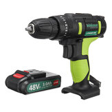 48VF 3 in 1 25+1 Gears Electric Impact Drill 2 Speeds Rechargeable Screwdriver W/ LED Light