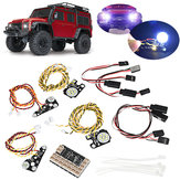 17PCS LED Depan lampu Belakang + IC Lamp Group Headlight Kit Untuk TRAXXAS Trx4 RC Car Parts