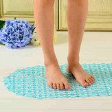 45xPVC de 37 centimètres salle de bains de tapis d'erreur anti-tapis transparent avec la forte tasse de succion